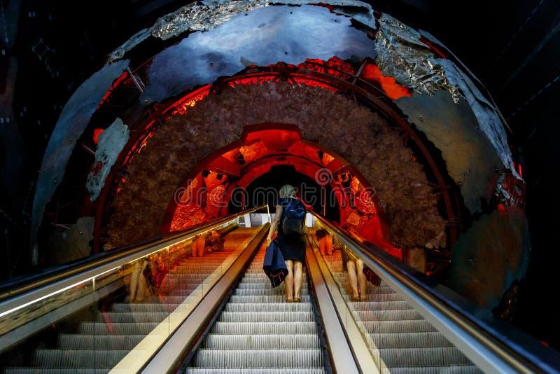 Ταξίδι στο κέντρο του γήινου μουσείου της φυσικής ιστορίας, Λ στοκ εικόνες με δικαίωμα ελεύθερης χρήσης