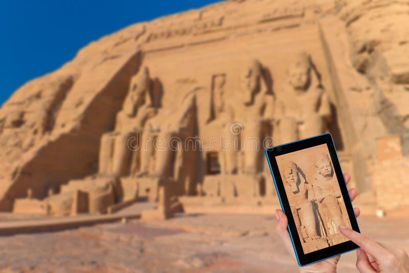 Ταξίδι στο ναό Abu Simbel στην Αίγυπτο στοκ φωτογραφίες με δικαίωμα ελεύθερης χρήσης