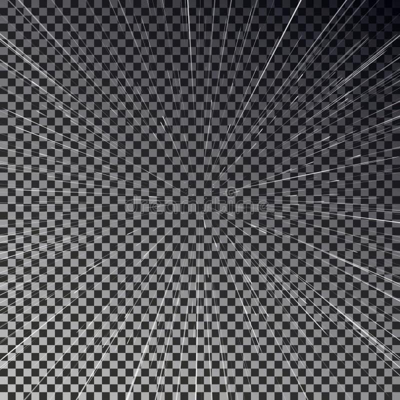 Ταξίδι ταχύτητας ανοιχτού χώρου Ελαφρύ διάνυσμα ταχύτητας αστεριών διανυσματική απεικόνιση