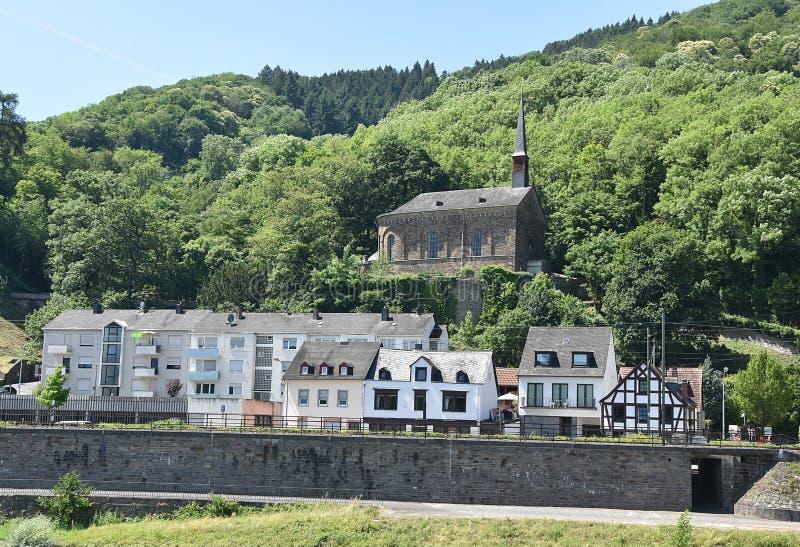 Ταξίδι της Γερμανίας - κρουαζιέρα πέρα από την κοιλάδα του Ρήνου στοκ εικόνες