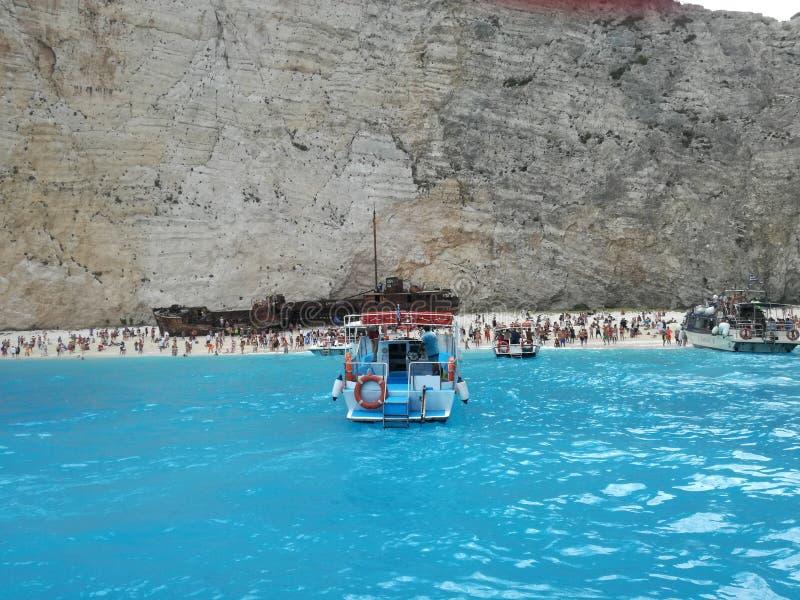 Ταξίδι της Ζάκυνθου συντριμμιών σκαφών παραλιών Navagio στοκ φωτογραφία με δικαίωμα ελεύθερης χρήσης