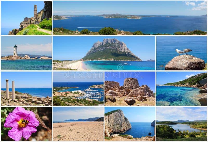 ταξίδι της Σαρδηνίας καρτώ&nu στοκ φωτογραφίες
