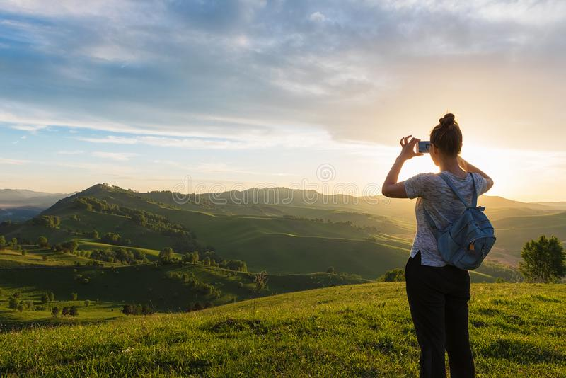 Ταξίδι, φωτογραφία και πραγματική έννοια στοκ φωτογραφίες