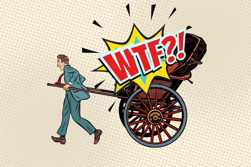 Ταξί επιχειρησιακών δίτροχων χειραμαξών wtf ελεύθερη απεικόνιση δικαιώματος