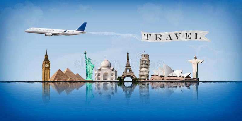 Ταξίδι έννοιας μηνυμάτων σε όλο τον κόσμο διανυσματική απεικόνιση
