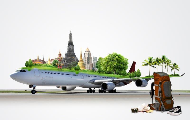 Ταξίδι αεροπλάνων, έννοια στοκ εικόνες
