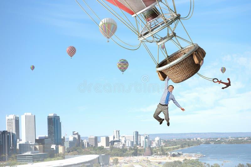 Ταξίδι ατόμων στο αερόστατο στοκ φωτογραφία