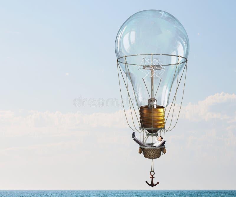 Ταξίδι ατόμων στο αερόστατο στοκ φωτογραφία με δικαίωμα ελεύθερης χρήσης