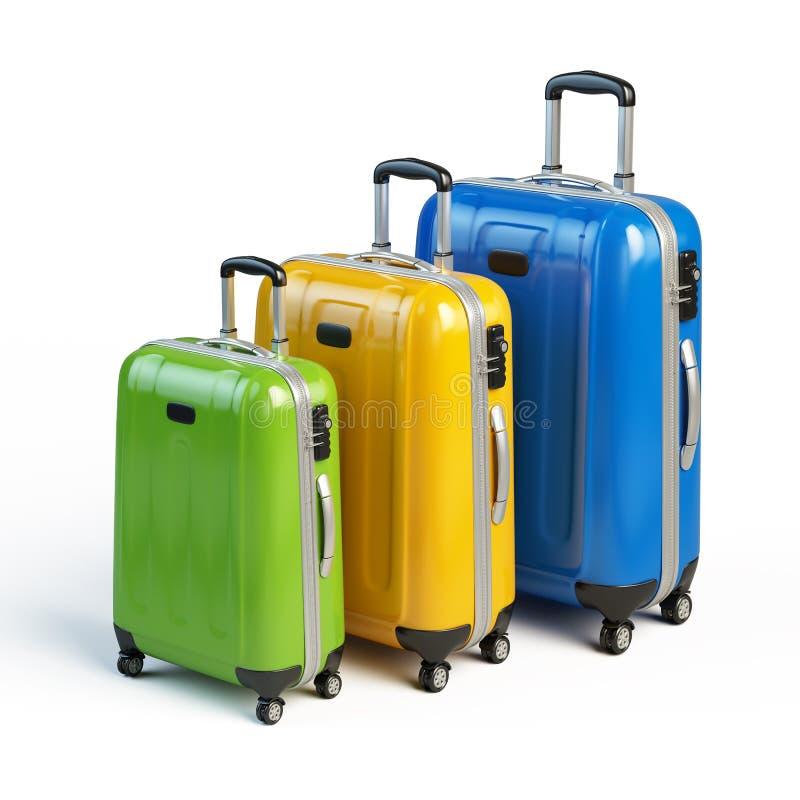 Ταξίδι, εικονίδιο αποσκευών απεικόνιση αποθεμάτων