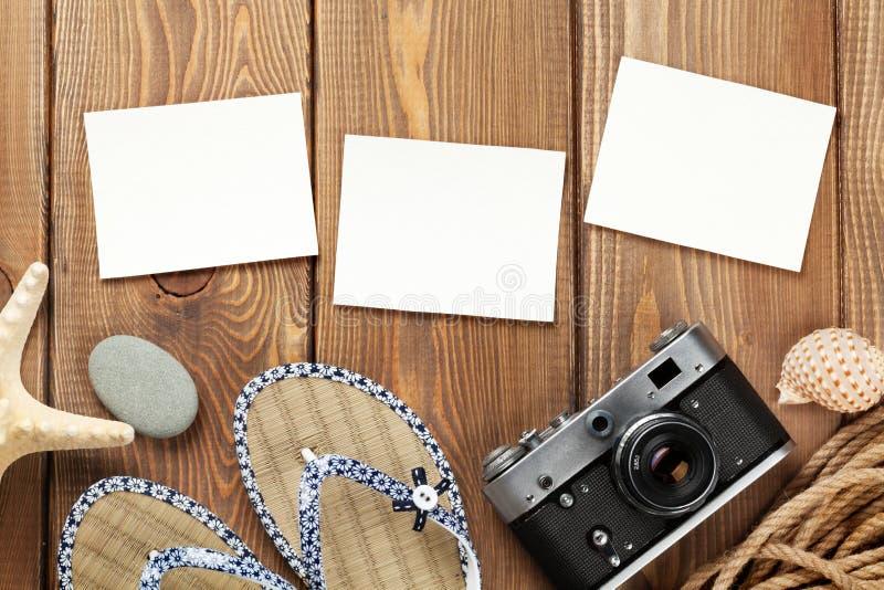 Ταξίδι και φωτογραφίες και στοιχεία διακοπών στοκ εικόνα