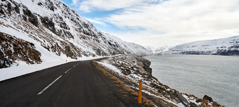 Ταξίδι μέσω των δρόμων της Ισλανδίας στοκ εικόνες με δικαίωμα ελεύθερης χρήσης
