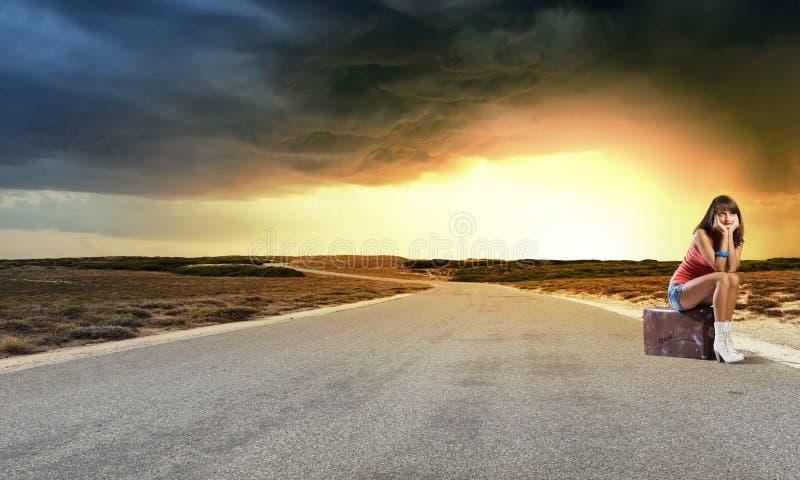 Ταξίδι Autostop στοκ εικόνες με δικαίωμα ελεύθερης χρήσης