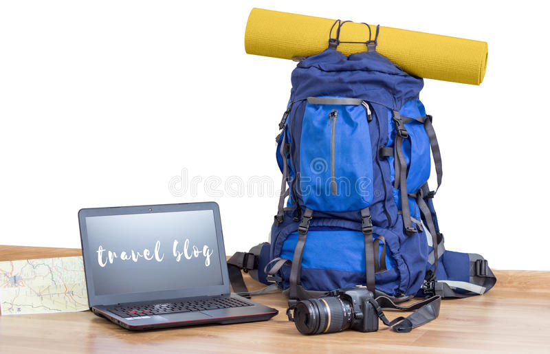 Ταξίδι Blog στοκ εικόνες