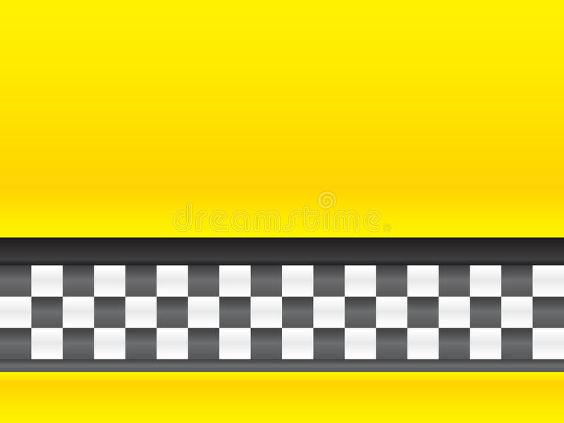 ταξί λωρίδων διανυσματική απεικόνιση