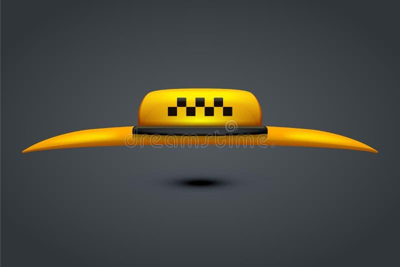 Ταξί με τη στέγη απεικόνιση αποθεμάτων