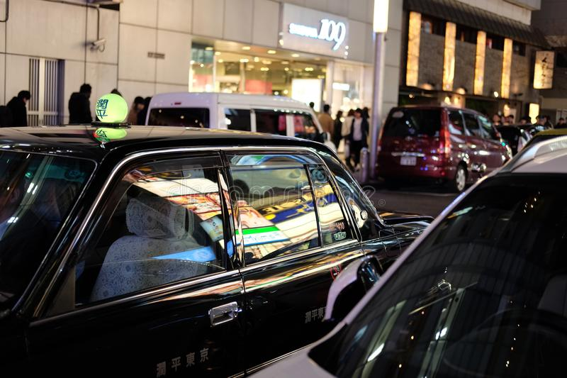 Ταξί νύχτας στοκ εικόνες με δικαίωμα ελεύθερης χρήσης