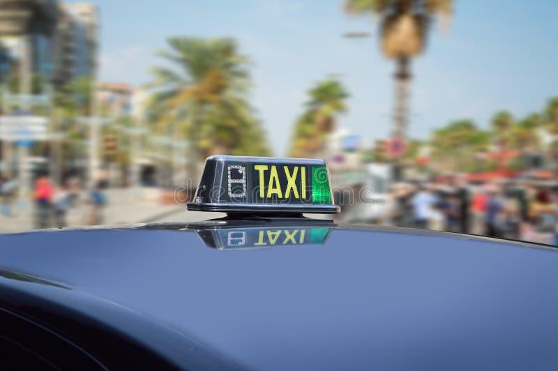 ταξί πόλεων στοκ εικόνα με δικαίωμα ελεύθερης χρήσης