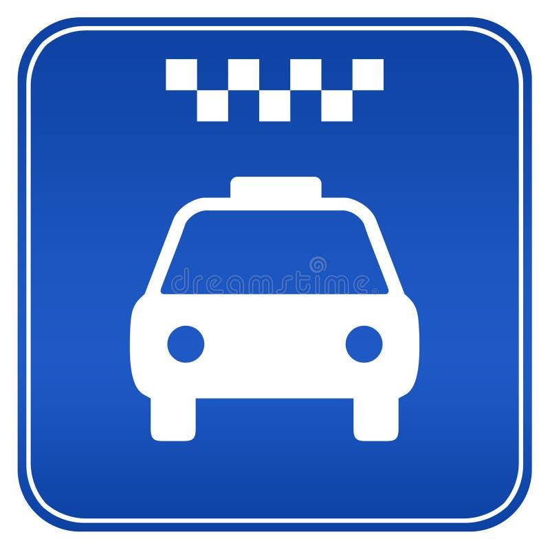 ταξί σημαδιών ελεύθερη απεικόνιση δικαιώματος