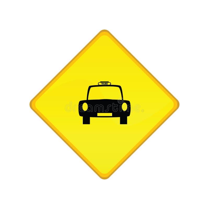 ταξί στάσεων σημαδιών ελεύθερη απεικόνιση δικαιώματος
