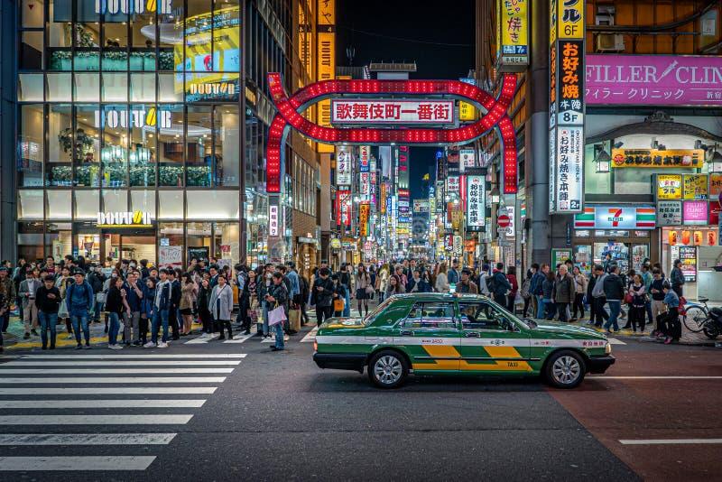 Ταξί στο Τόκιο στοκ εικόνες