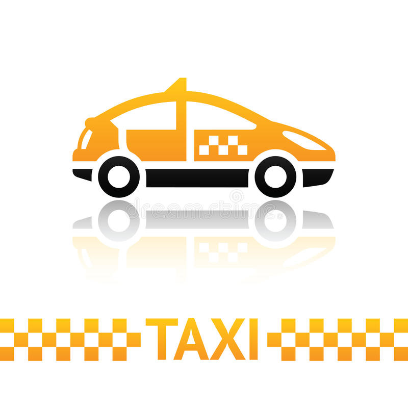 ταξί συμβόλων αμαξιών διανυσματική απεικόνιση