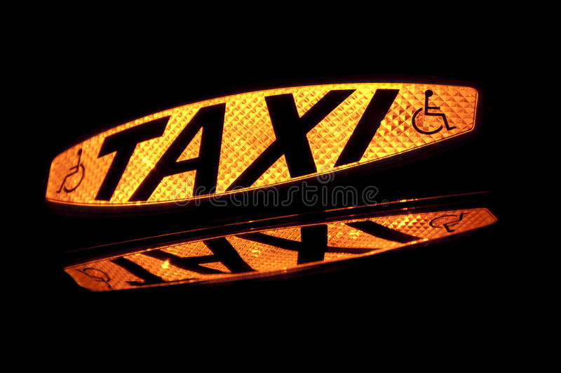 ταξί 2 σημαδιών στοκ εικόνες