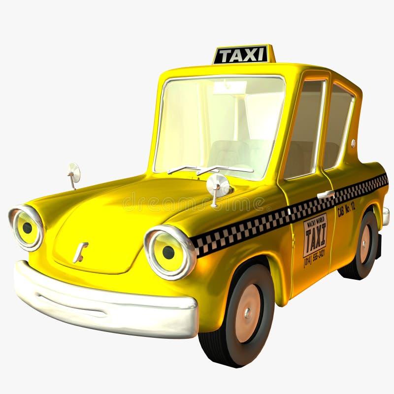 ταξί Toon αυτοκινήτων ελεύθερη απεικόνιση δικαιώματος