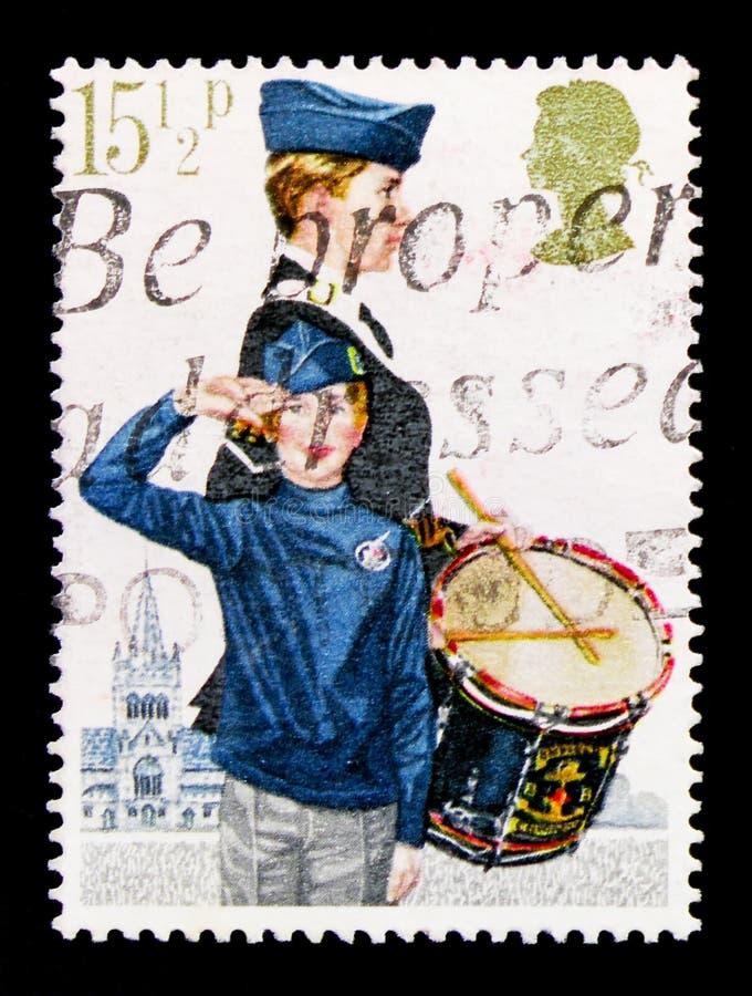 Ταξιαρχία αγοριών ` s, οργανώσεις νεολαίας serie, circa 1982 στοκ φωτογραφίες με δικαίωμα ελεύθερης χρήσης