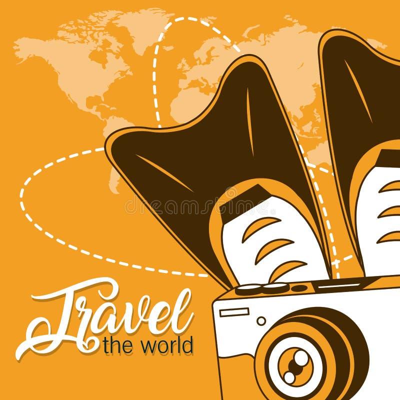 Ταξιδεψτε τον κόσμο ελεύθερη απεικόνιση δικαιώματος