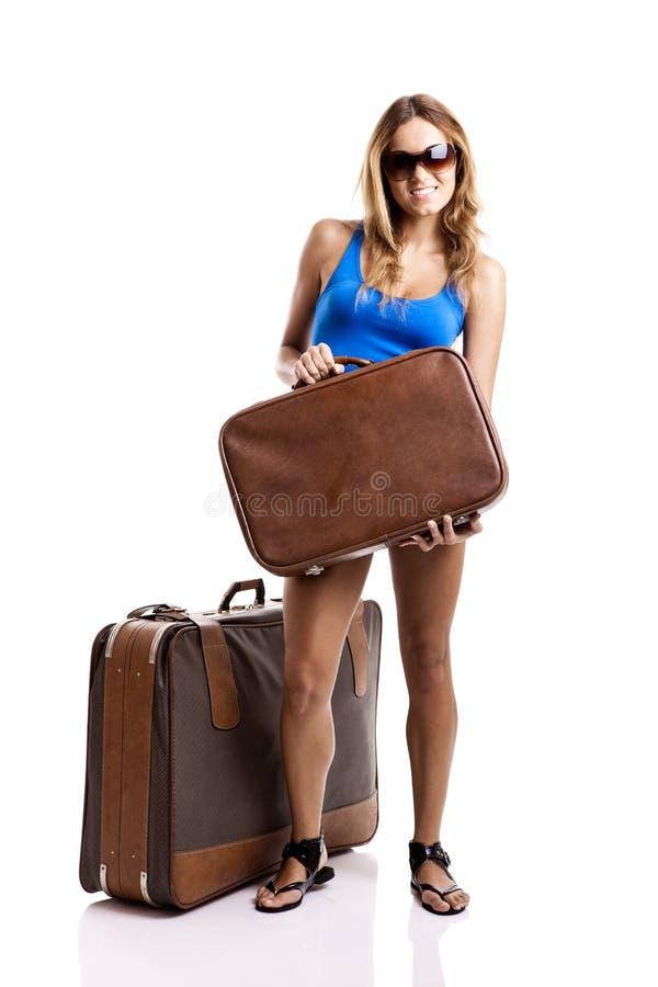 ταξιδιωτική γυναίκα στοκ φωτογραφία με δικαίωμα ελεύθερης χρήσης