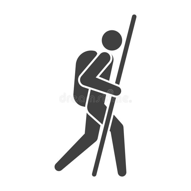 Ταξιδιώτης συμβόλων τουριστών εικονιδίων r διανυσματική απεικόνιση