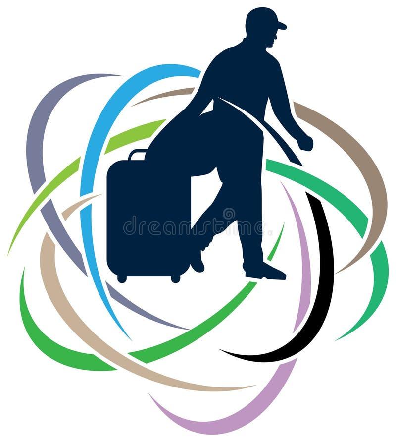 Ταξιδιώτης διανυσματική απεικόνιση