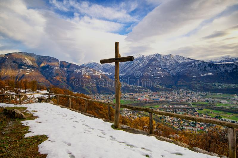 Ταπεινότητα - θέα βουνού στοκ φωτογραφίες