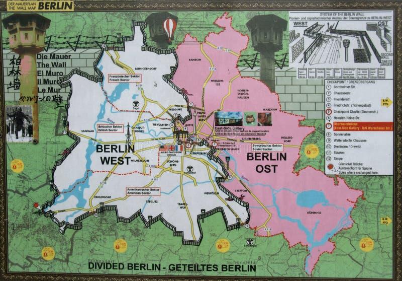 Ταπετσαρία ανατολής και του Δυτικού Βερολίνου στοκ φωτογραφία