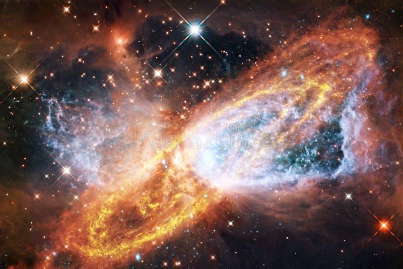 Ταπετσαρία, γαλαξίες και nebulas επιστημονικής φαντασίας διαστημική στην τρομερή κοσμική εικόνα στοκ φωτογραφία με δικαίωμα ελεύθερης χρήσης
