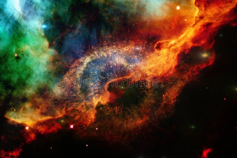 Ταπετσαρία, γαλαξίες και nebulas επιστημονικής φαντασίας διαστημική στην τρομερή κοσμική εικόνα στοκ εικόνες