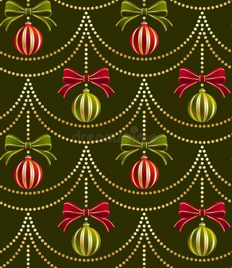 ταπετσαρία προτύπων Χριστουγέννων διανυσματική απεικόνιση
