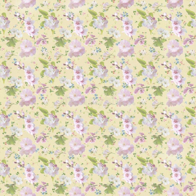 ταπετσαρία σχεδίων λουλουδιών διανυσματική απεικόνιση