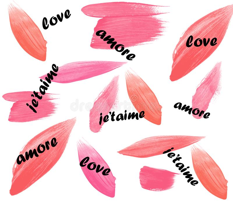 Ταπετσαρία υποβάθρου ημέρας βαλεντίνων ` s αγάπης amore je ` taime στοκ φωτογραφία
