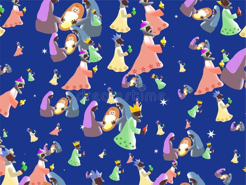 ταπετσαρία nativity διανυσματική απεικόνιση