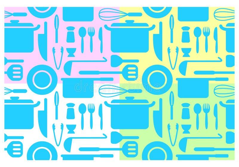 Ταπετσαρίες κουζινών, διάνυσμα απεικόνιση αποθεμάτων