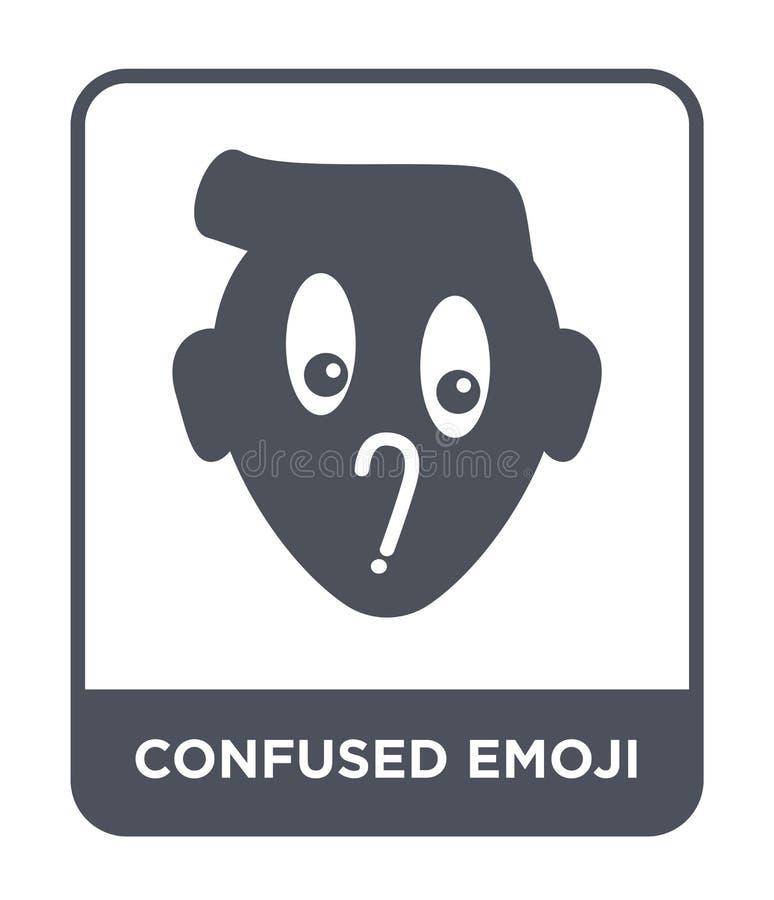 ταραγμένο εικονίδιο emoji στο καθιερώνον τη μόδα ύφος σχεδίου ταραγμένο εικονίδιο emoji που απομονώνεται στο άσπρο υπόβαθρο ταραγ απεικόνιση αποθεμάτων