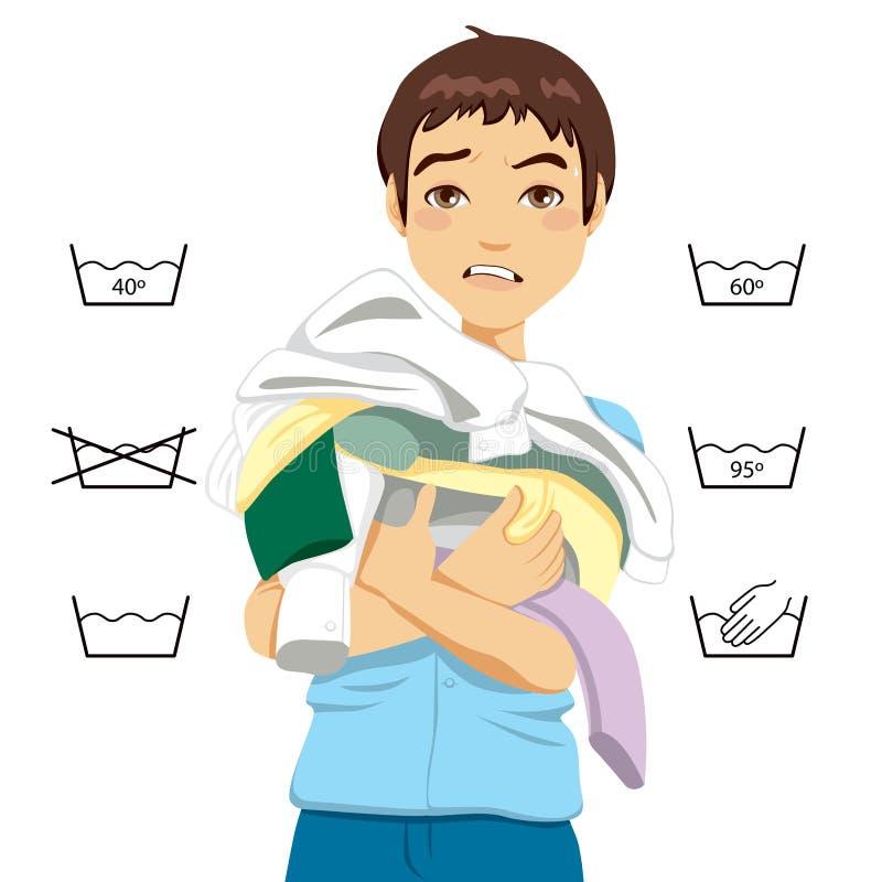 Ταραγμένο πλυντήριο ατόμων ελεύθερη απεικόνιση δικαιώματος