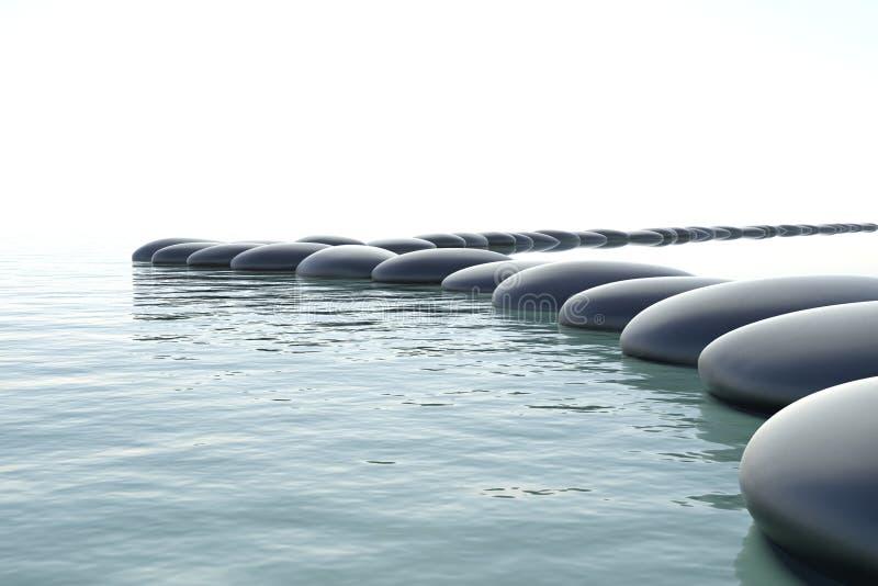 ταραχώδες ύδωρ zen διανυσματική απεικόνιση
