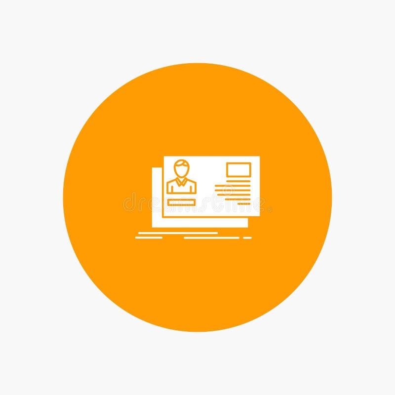 Ταυτότητα, χρήστης, ταυτότητα, κάρτα, πρόσκληση απεικόνιση αποθεμάτων