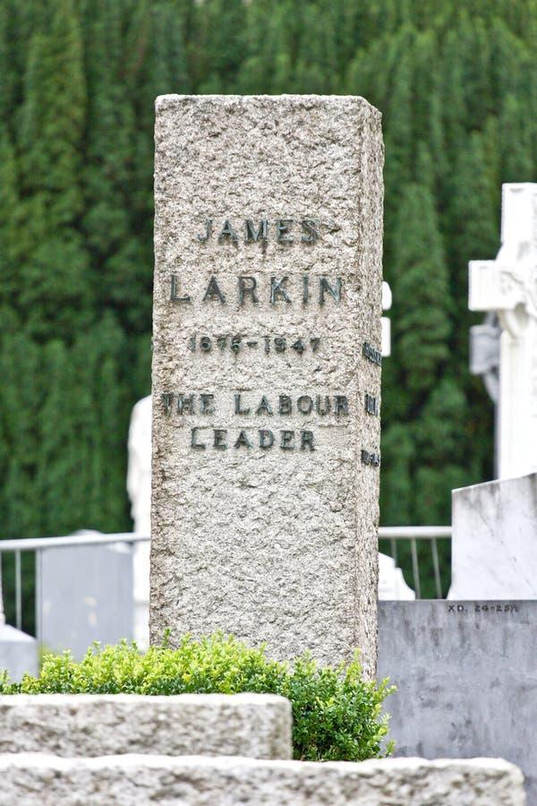 Ταφόπετρα του James Larkin στο νεκροταφείο Glasnevin, Ιρλανδία στοκ φωτογραφία με δικαίωμα ελεύθερης χρήσης
