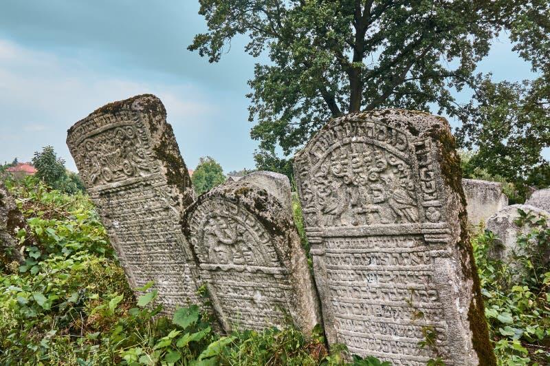 Ταφόπετρες στο εβραϊκό νεκροταφείο στοκ εικόνες με δικαίωμα ελεύθερης χρήσης