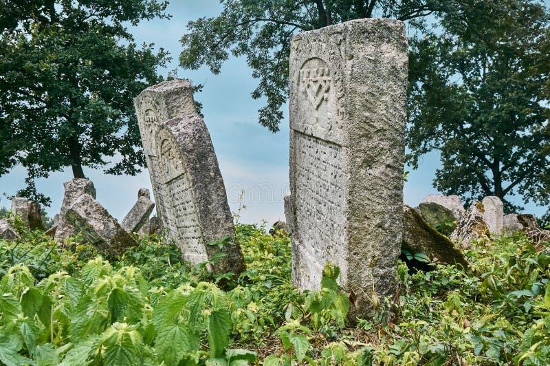Ταφόπετρες στο εβραϊκό νεκροταφείο στοκ φωτογραφία