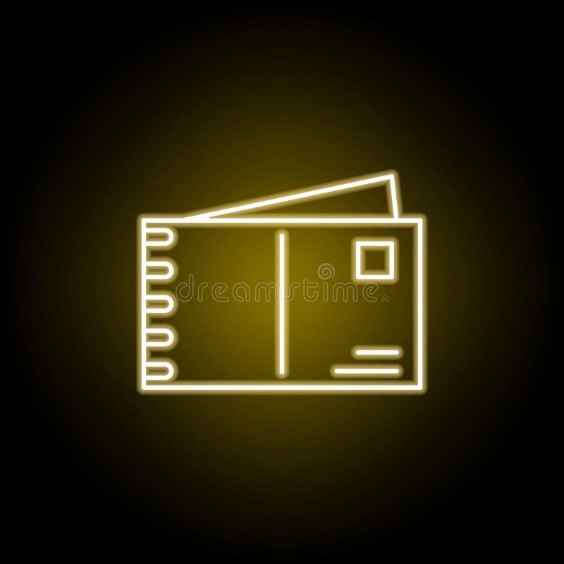 ταχυδρομείο, εικονίδιο επιστολών στο ύφος νέου Στοιχείο της απεικόνισης ταξιδιού E ελεύθερη απεικόνιση δικαιώματος