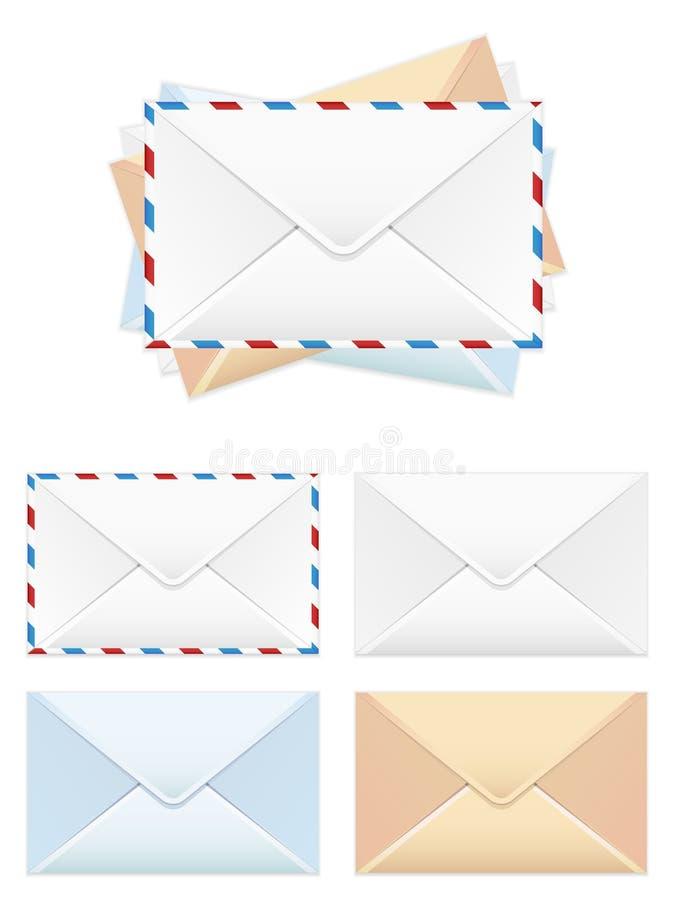 ταχυδρομείο εικονιδίω&nu διανυσματική απεικόνιση